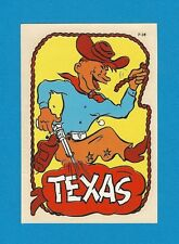 "VINTAGE ORIGINAL 1949 SOUVENIR ""TEXAS"" COWBOY LARIAT TRAVEL WATER DECAL ART NICE"
