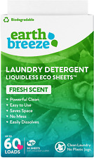 Earth Breeze - Liquid-Less Laundry Detergent Sheets - Fresh Scent - Plastic Free