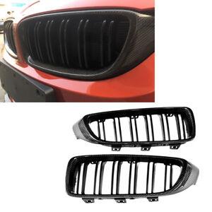 Carbon Fiber Front Grill Grille Refit For BMW F32 F33 F36 428i 435i M3 M4 13-18