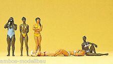 Preiser 10309 h0, bagnanti, 6 figure, dipinta a mano, nuovo