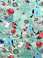 Jersey Stoff Kinderstoff Liebe Vögel mint  Breite 150 cm ab 50cm