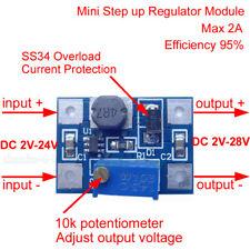 2A Boost DC-DC 3.3V 5V 9V 12V Step up Adjustable Power Supply Converter Module