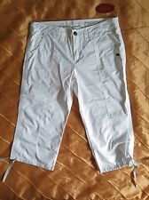 EDC BY ESPRIT COMFORT FIT PLAY BERMUDA CAPRI 7/8 HOSE WEISS WHITE 42, XL NEU