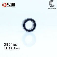 3801-2RS (12x21x7 mm) Double Row Sealed Angular Contact Rubber Seal Ball Bearing