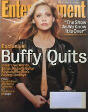 Sarah Michelle Gellar - Buffy Quits! March 2003 Entertainment Weekly Magazine