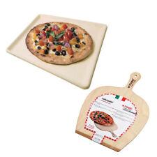 Trabo Naturcook Pietra Refrattaria + Pala Forno per Pizza Carne Pesce Verdure