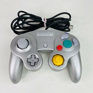Official Nintendo GameCube Controller Silver (DOL-003) Cleaned & Tested - OEM