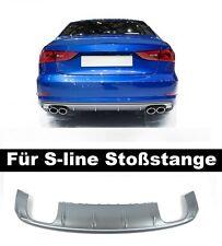Für Audi A3 8V S-Line S3 Look Diffusor Stoßstange Heckansatz Limousine Sedan =r