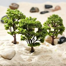 9cm/11cm Green Model Trees Park Garden Road Railway Layout Display Scenery 10Pcs