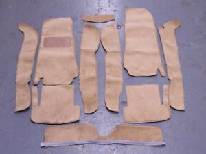 FIAT 124  SPIDER 68-82 BISCUIT TAN CUT PILE CARPET KIT  WITH 20 OUNCE PADDING