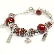 South Carolina Gamecocks Beaded Charm Bracelet
