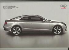 AUDI A5 AND S5 ILLUSTRATED PRICE/SPECIFICATION SALES BROCHURE APRIL  2008
