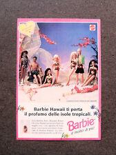 I984-Advertising Pubblicità-1995- BARBIE , MATTEL , HAWAII ISOLE TROPICALI
