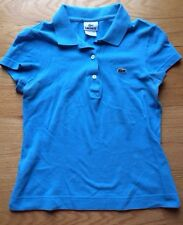 Women's Lacoste Blue Size 36 (small) Pique Stretch Short Sleeve Polo Shirt Top.