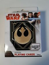 Star Wars Heroes Playing Cards  the Last Jedi Collectible Embossed Tin *NIB*
