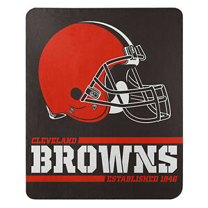"""New Football Cleveland Browns Fleece blanket Southpaw Soft Throw 50"""" x 60"""""""
