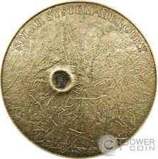 SOLAR SYSTEM MERCURY NWA 8409 Meteorite Silver Coin 1$ Niue 2016