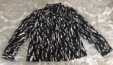 Jobis Women's Black & White Print Pattern Jacket - Size L
