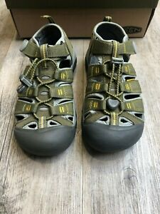 Keen Kids Newport H2 Burnt Olive/ Yellow and Navy