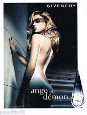 PUBLICITE ADVERTISING 065  2007  GIVENCHY  le nouvrau parfum femme ANGE ou DEMON