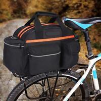 Cycling Bike Bicycle Rear Rack Seat Bag Handbag Travel Saddle Tail Pannier Pouch