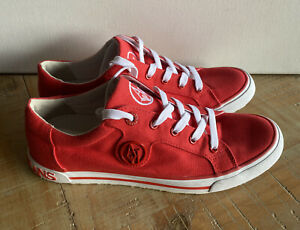 Armani Jeans Red Sneakers Pumps Size Uk 4.5 Eur 47  Au  6-61/2  New