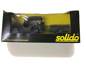 Solido Militaires Army 256 Jeep Willys and Trailer in Original Box