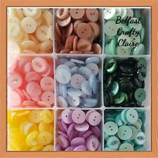 17mm 140 ASSORTED COLOURS STAR BUTTONS CRAFT Size 26