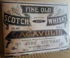 Vintage Lagavulin Scotch Whiskey Label Metal Sign Free Shipping