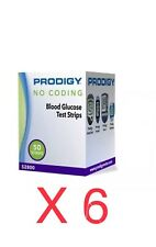 Prodigy Diabetic Test Strips 300 Ct in 6 Boxes Exp 2019+ Freaky Fast Shipping 👍