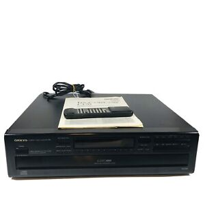 Onkyo DX-C320 Compact Disc 6 CD Changer W/ Remote & Manual - Working **READ**