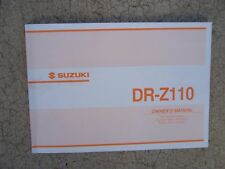2002 Suzuki DR-Z110 Motorcycle Owner Manual Bike MORE CYCLE ITEMS IN OUR STORE S