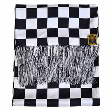 Mens 100% Silk Dress Scarf by Goldtop - Chequered Racing Flag Design