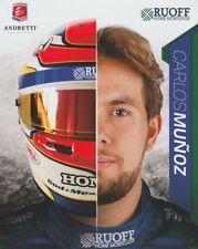 2018 Carlos Munoz Ruoff Mortgage Honda Dallara Indy 500 Indy Car postcard