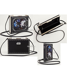 Star Wars Princess Leia & Luke Book Crossbody Bag Purse Clutch Faux Leather NWT