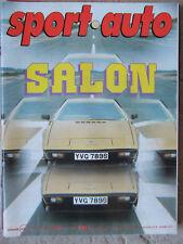 Sport Auto N°201 (oct 1978) Salon Auto - Lotus Esprit - Pironi Villeneuve-Poster