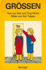 Neil + ting Morris, tamaños, pop-up imágenes libro, ill. kati Teague, Benziger 1984