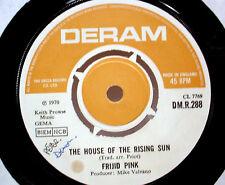 "FRIJID PINK - The House Of The Rising Sun (Deram) - '70 UK press - 7""/45rpm"