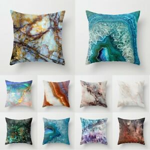 "18"" Polyester Marble Pillow Case Cover Sofa Throw Waist Cushion Cover Home Decor"