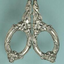 Antique Sterling Silver Art Nouveau Daffodil Scissors * American * Circa 1890s