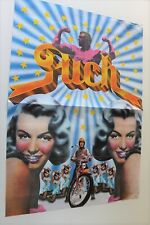 AFFICHE POSTER MOTO PUCH 1973 PSYCHEDELIC MOPED SKYRIDER SKYLARK MAXI SKYTRACK