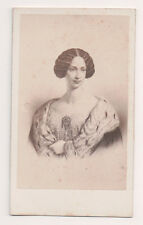 Vintage CDV Archduchess Maria Theresa Countess of Chambord  E.Desmaisons Phot