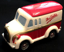 Mrs. Fields Red and White Ceramic Cookie Jar - Truck