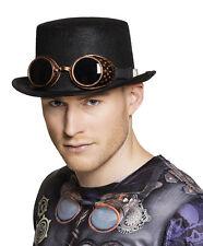 Steampunk Zylinder mit Brille NEU - Karneval Fasching Hut Mütze Kopfbedeckung