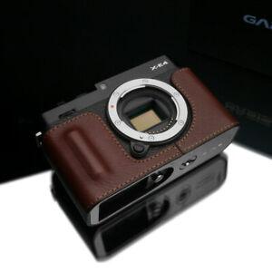 Gariz HG-XE4BR Genuine Leather Half Case for Fuji Fujifilm XE4 X-E4, Brown