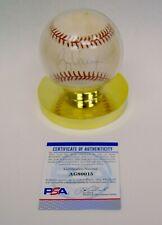 Signed MLB Rawlings Baseball Greg Vaughn PSA/DNA B4037