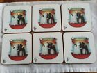 Portmeirion Rob Scotton Splat The Cat Set Of 6 Christmas Coasters