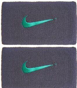 Nike Dri-Fit Wristbands Gridiron Neptune Green Swoosh Adult Unisex PAC300 047