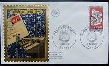 Enveloppe 1é jour du 9 3 1974 Paris F.S.P.F. Journée du Timbre