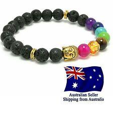 Chakra Bracelet Lava Stone 7 Bead Natural Aromatherapy Oil Diffuser Fashion